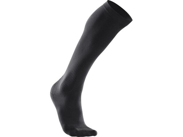 2XU Compression Performance Run Socks Men Black/Black
